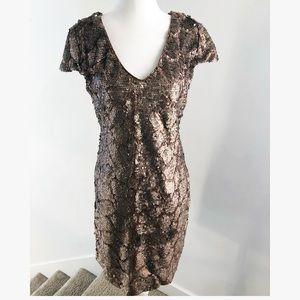 Gianni Bini Sequin Bronze Glitter New Year Dress